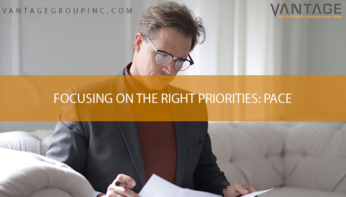 Focusing on the Right Priorities: Pace