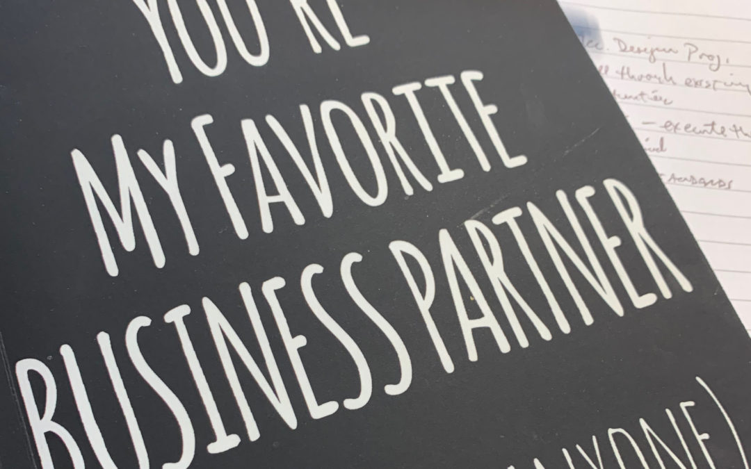 Five Reasons For Having a Business Partner: One Year Later