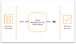 business strategy + talent management and optimization equals business results